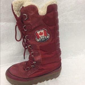 Women's Red Pajar Greenland Boots Sz 6-61/2